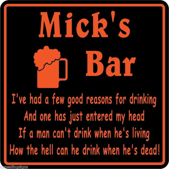 New Personalized Custom Name Reasons For Drinking Bar Beer Pub Gift Sign #25