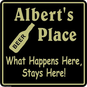 New Personalized Custom Name What Happens Here Bar Beer Pub Gift Sign #19