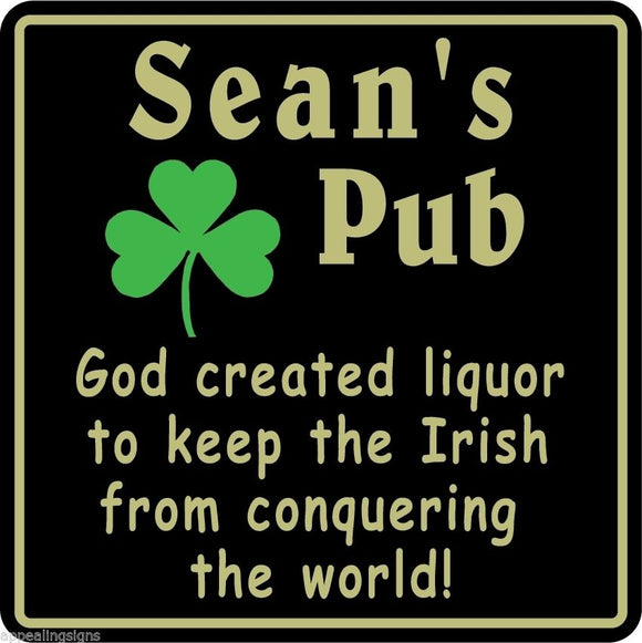 New Personalized Custom Name Irish Pub Bar Beer Home Decor Gift Plaque Sign #5