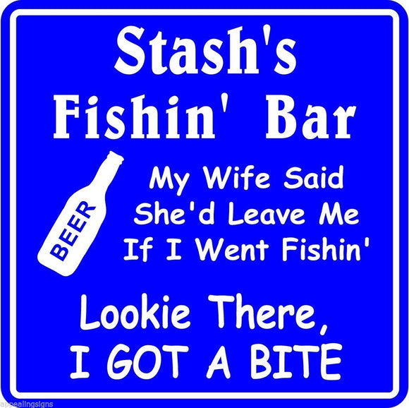 New Personalized Custom Name Fishing Bar Beer Tavern Pub Gift Fish Wall Sign #14