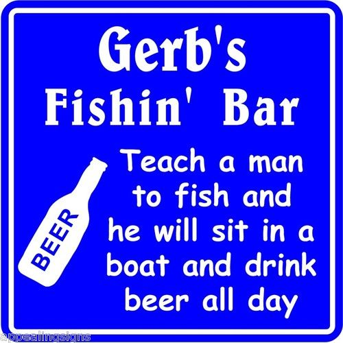 New Personalized Name Sign Fishing Bar Beer Tavern Pub Gift Fish Wall Sign #9
