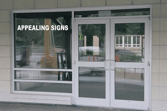 1 Line Custom Business Retail Window Lettering Graphics Decal Large Your Info