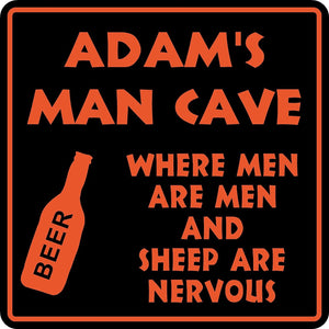 Personalized Custom Name MAN CAVE Bar Beer Den Garage Funny Sign #11