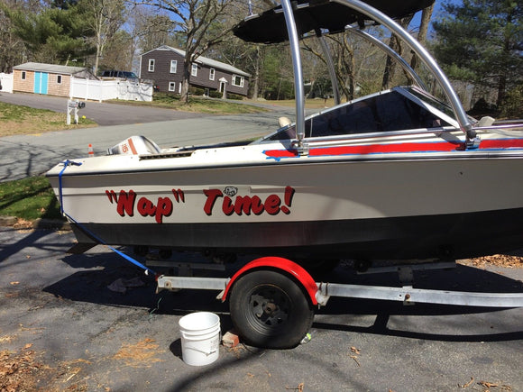 Custom Speed Pontoon Sail Boat Name Vinyl Lettering 6