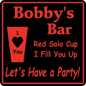 New Personalized Custom Name Red Solo Cup  Bar Beer Pub Gift Sign #31