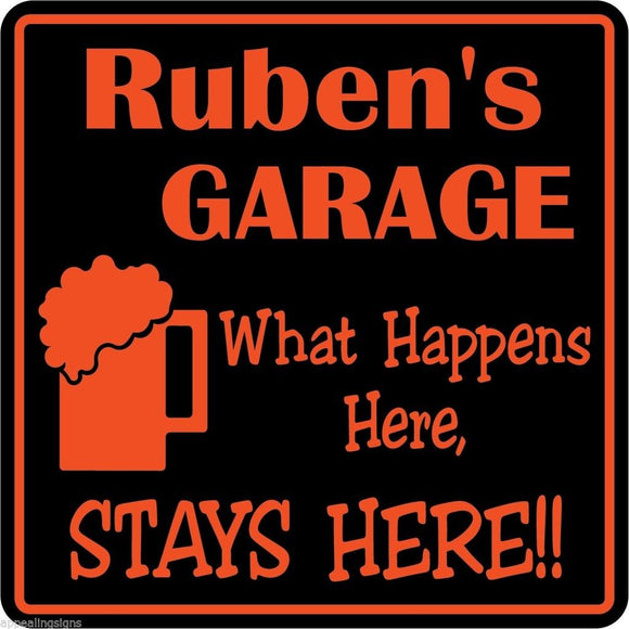 New Personalized Custom Name What Happens Here Garage Bar Man Cave Gift Sign #28