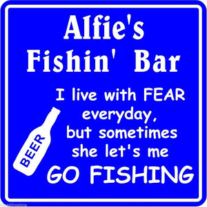 New Personalized Custom Name Fishing Bar Beer Tavern Pub Gift Fish Wall Sign #10