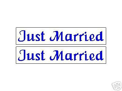 (2) JUST MARRIED VEHICLE CAR  MAGNET MAGNETICS SIGNS
