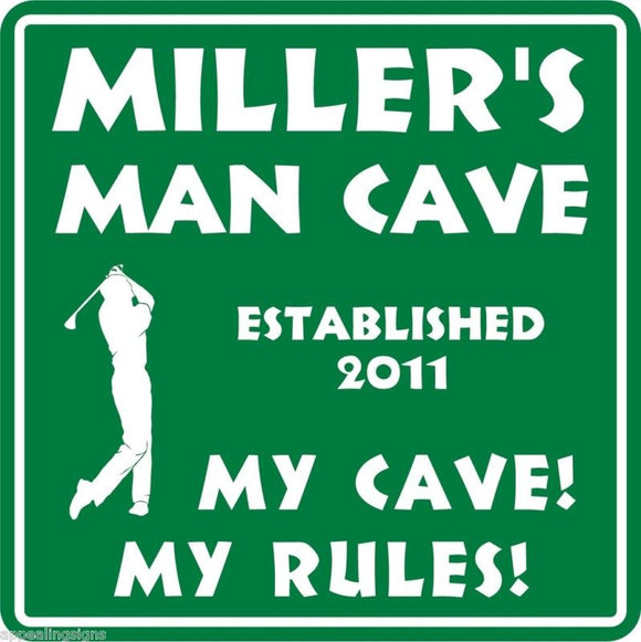 Personalized Custom Name MAN CAVE Bar Beer Den Garage Funny Sign #8
