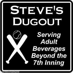 New Personalized Custom Name Baseball Dugout Bar Gift Sign #1