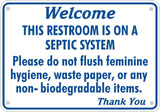 Septic System Tank Bathroom Sign Restroom Toilet Aluminum Varied Sizes