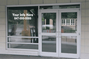 2 Line Custom Business Retail Window Lettering Graphics Decal Large Your Info