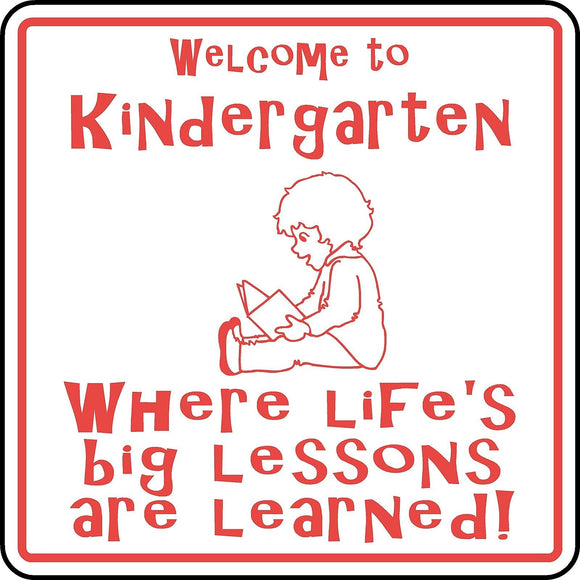 Welcome to Kindergarten Sign Custom Children School Student Teacher Classroom