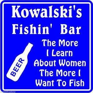 New Personalized Custom Name Fishing Bar Beer Tavern Pub Gift Fish Wall Sign #12