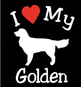 DOG GOLDEN RETRIEVER PET CAR DECALS STICKERS