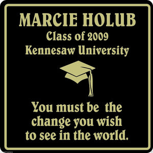 personalized name graduation sign high school college university
