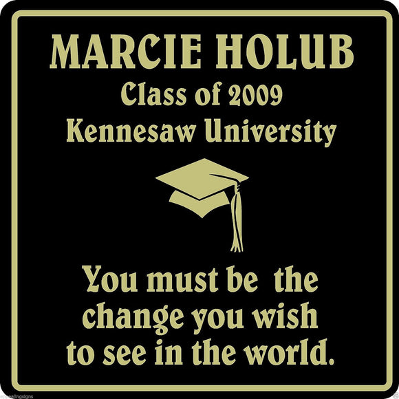 Personalized Name Graduation Sign High School College University School #1