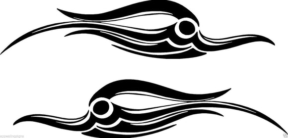 (2) Vinyl Vehicle Graphics Decals Tribal # 4 Bird Custom Auto Truck  Asst Colors