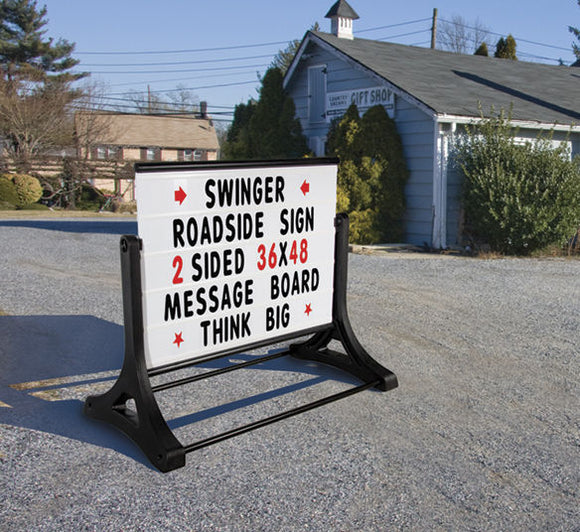Swinger Roadside Double Sided Changeable Letters Message Board Sign 36
