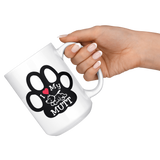 I Love My Mutt Coffee Mug Dog Lover Fan Tea Cup