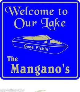 Personalized Custom Name Welcome To Lake Home Nautical Marine Gift Sign  #6