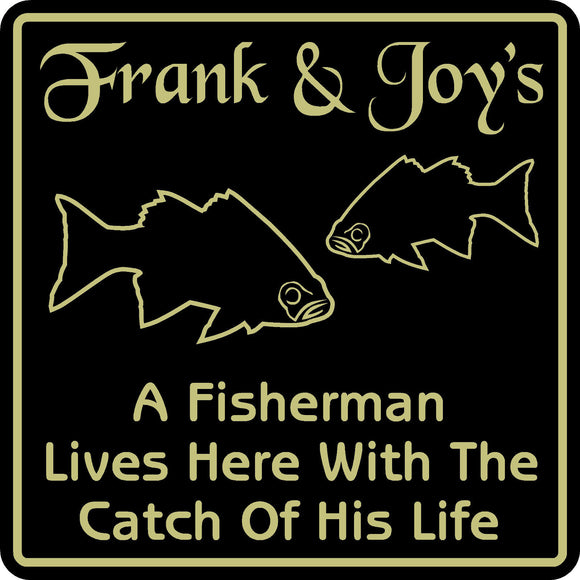 New Personalized Custom Name Fishing Bar Beer Fisherman  Fish Home Gift Sign #15