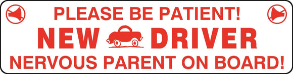 New Driver Nervous Parent Magnet Sign Car Truck Student New Safety Drivers Ed #9