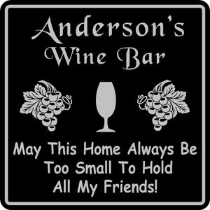 Personalized Custom Name Wine Room Tasting Bar Pub Wall Family Gift Sign #4