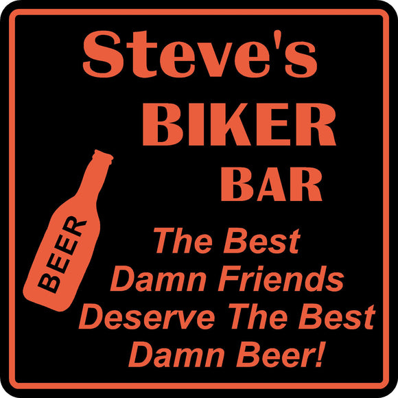 Personalized Custom Name Motorcycle Biker Bike Best Friends Bar Gift Sign #3