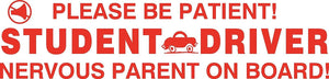 Student Driver Nervous Parent Magnet Sign Car Truck Safety New Teen  #1