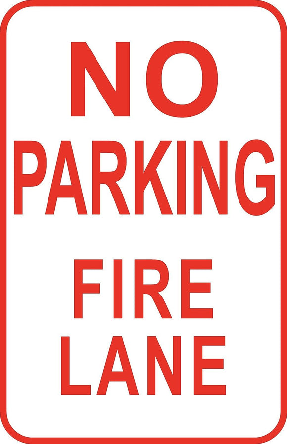 No Parking Fire Zone Sign 12