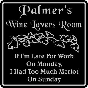 Personalized Name Wine Room Sign Tasting Bar Pub Wall Family Gift  #10