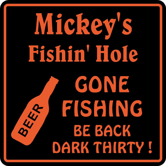 New Personalized Name Sign Fishing Bar Beer Tavern Pub Gift Wall #4