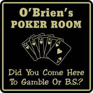 New Personalized Custom Name Poker Game Room Bar Beer Cards Holdem Gift Sign #7
