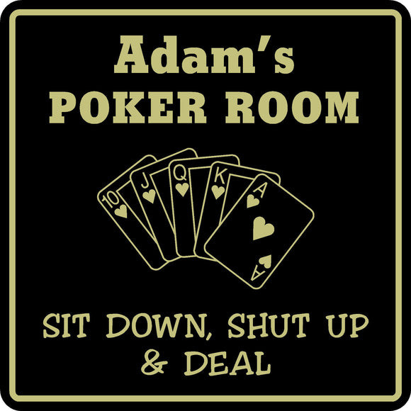 New Personalized Custom Name Poker Game Room Bar Beer Cards Holdem Gift Sign #3