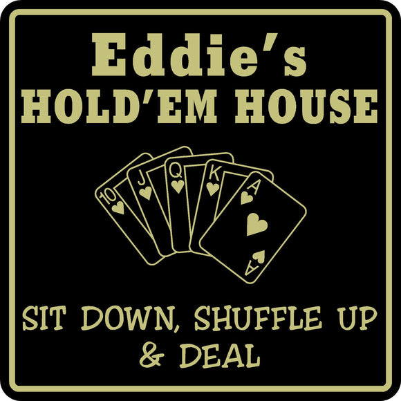 Poker Game Room Sign Cards Holdem Gift Bar Beer Personalized Custom Name  #10