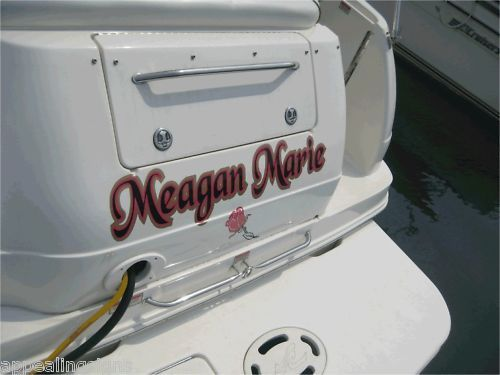 Custom Transom Side Boat RV Name Vinyl Lettering Decal Sticker w 2 color Shadow
