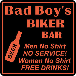Personalized Custom Name Motorcycle Biker Bike Women No Shirt Bar Gift Sign #2