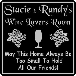 Personalized Custom Name Wine Room Tasting Bar Pub Wall Family Gift Sign #11
