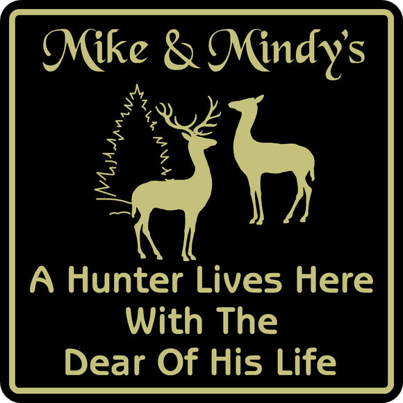 New Personalized Custom Name Hunter Hunting Home Cabin Wall Decor Plaque Sign #2