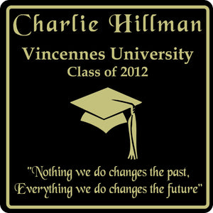 PERSONALIZED GRADUATION GIFT SCHOOL HS COLLEGE SIGN  #7