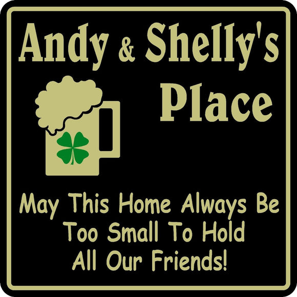 New Personalized Custom Name Irish Place For Friends  Bar Beer Pub Gift Sign #33