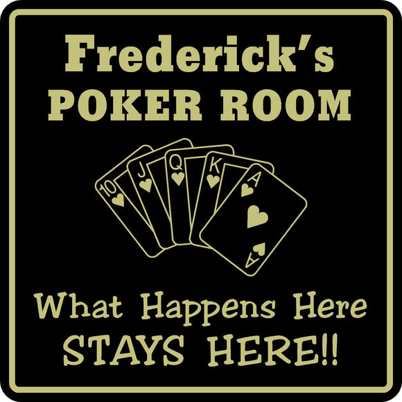 New Personalized Custom Name Poker Game Room Bar Beer Cards Holdem Gift Sign #6