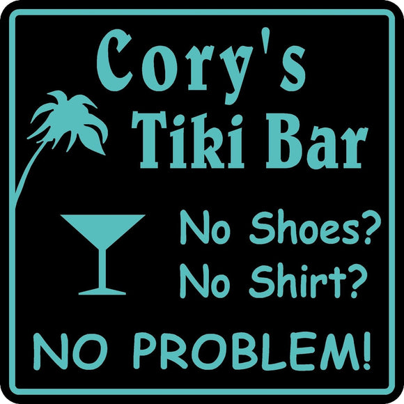 New Personalized Custom Name BeerTiki  Bar Beer Pub Gift Sign #30
