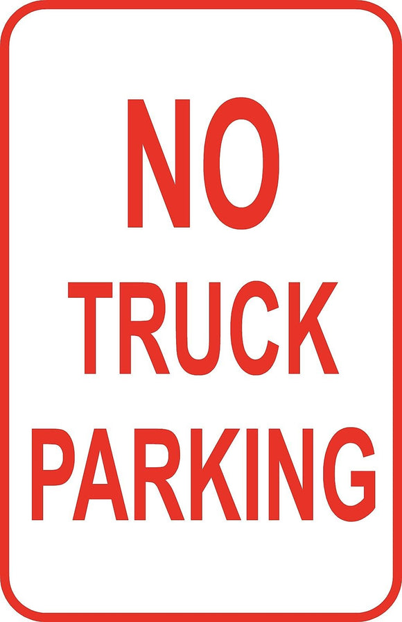 No Truck Parking Lot Sign 12