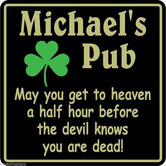 New Personalized Custom Name Irish Pub Bar Beer Home Decor Gift Plaque Sign #2