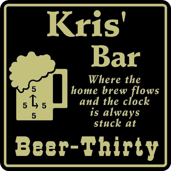 New Personalized Custom Name Home Brew Beer Thirty  Bar Beer Pub Gift Sign #35
