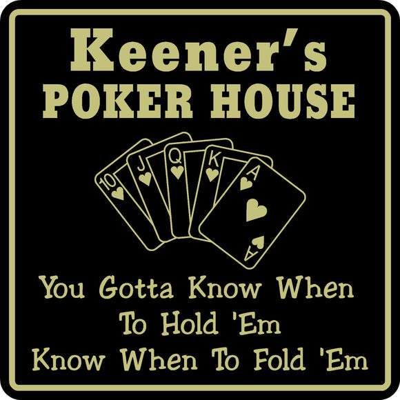New Personalized Custom Name Poker Game Room Bar Beer Cards Holdem Gift Sign #12