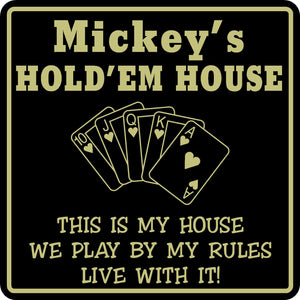 New Personalized Custom Name Poker Game Room Bar Beer Cards Holdem Gift Sign #11