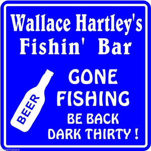 New Personalized Custom Name Fishing Bar Beer Tavern Pub Gift Fish Wall Sign #11